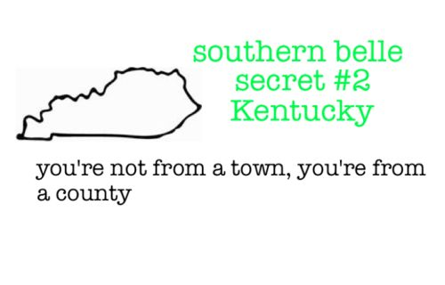 yup....dating a guy from another county, I'm constantly telling people what county I'm from or he's from