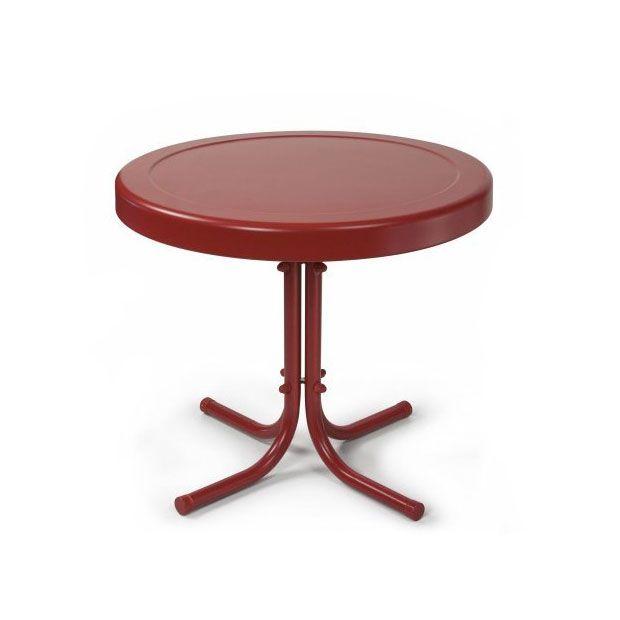 Arbor Metal Side Table in Red | dotandbo.com