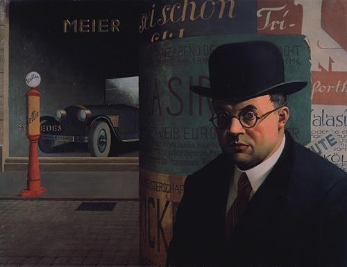 Scholz, Georg (1890-1945) - 1926 Self Portrait before an Advertisement Pillar (State Art Museum Karlsruhe) by RasMarley, via Flickr
