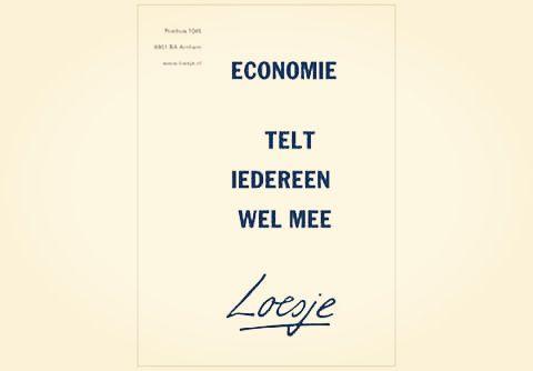 Economie, telt iedereen wel mee, loesje