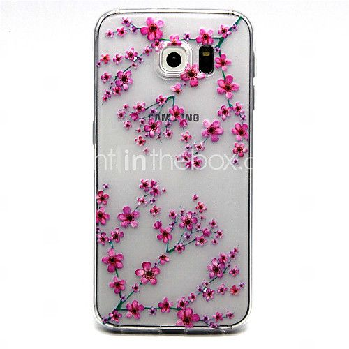 Red Flowers Pattern TPU Soft Relief Case for Samsung Galaxy S7/S7 edge - USD $3.99