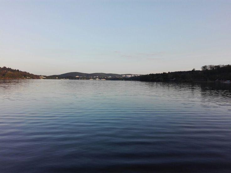 Lake in Brno, Czech Republic. No filter