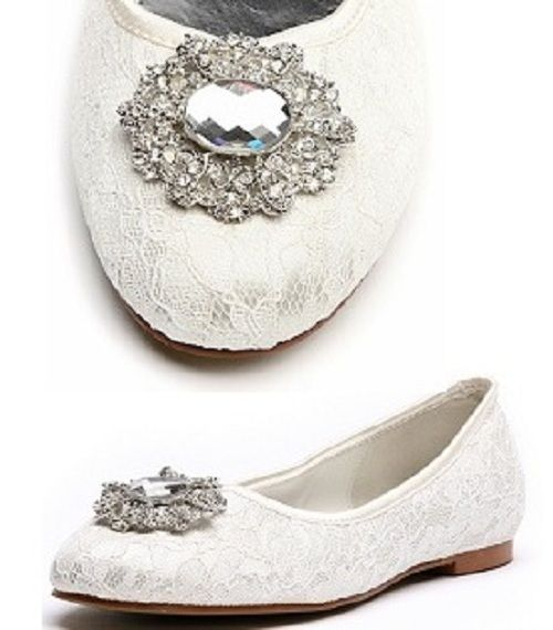 Lace Wedding Shoes - because I will most probably not wear heels