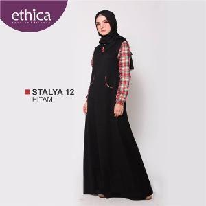 Baju Gamis Wanita Ethica STALYA 12 HITAM