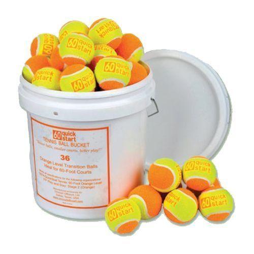 Quick Start Tennis Ball Bucket - 72 balls . $83.01