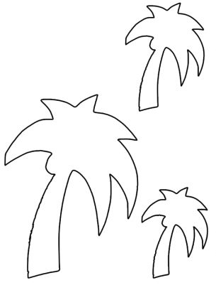 Give a like for Palm Tree Template from freeprintableoline - And