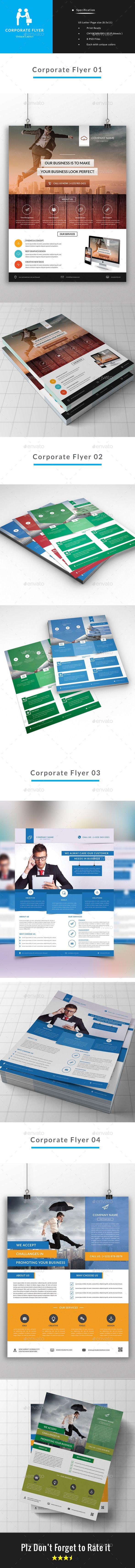 Corporate Business Flyer Bundle ( 4 in 1 )