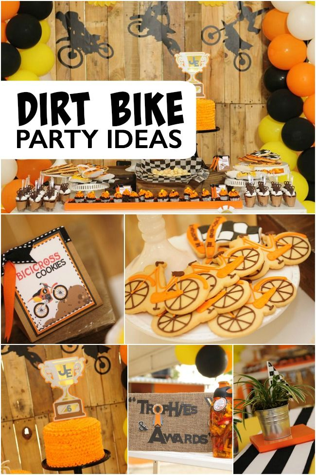 25 best ideas about bike birthday parties on pinterest for Decoration ktm