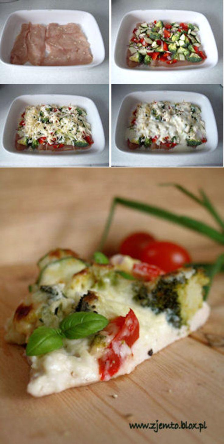 Zapiekanka z kurczaka i warzyw