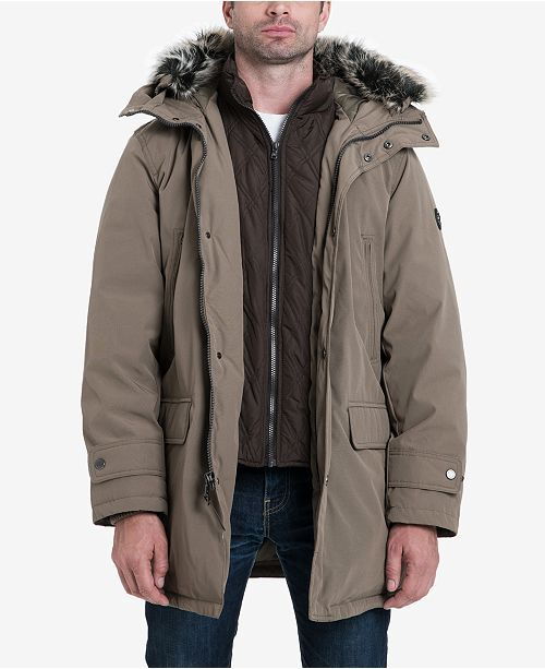 eb84150d44d Michael Kors Men's Hooded Bib Snorkel Parka, Created for Macy's in ...