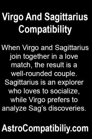 When Virgo and Sagittarius join together in a love match.... | AstroCompatibility.com