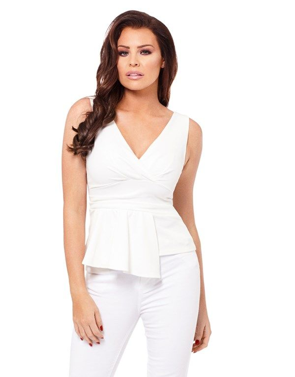 Jessica Wright Melissa Sleeveless Peplum Top