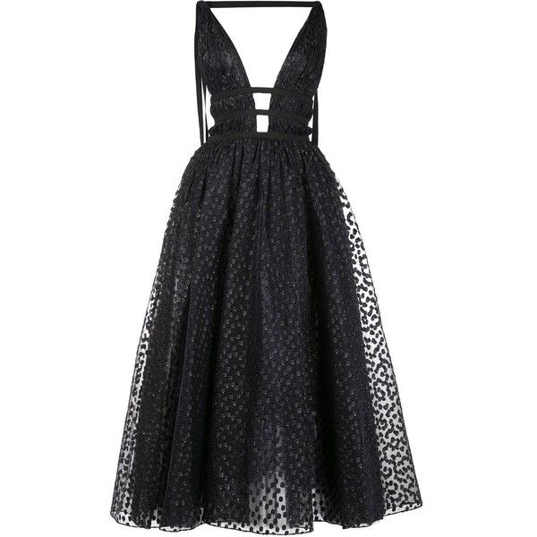 Carolina Herrera sequinned flared maxi dress (8,890 CAD) ❤ liked on Polyvore featuring dresses, black, sequin embellished dress, carolina herrera, flared dresses, flare dress and maxi dresses