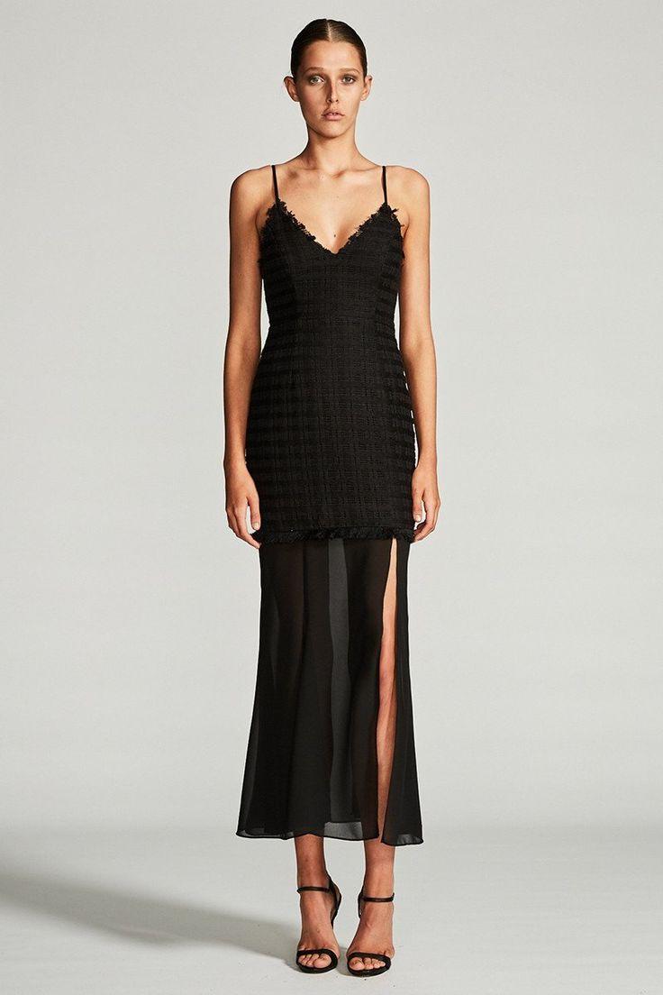 Shona Joy - Venus Cocktail Maxi Dress Black