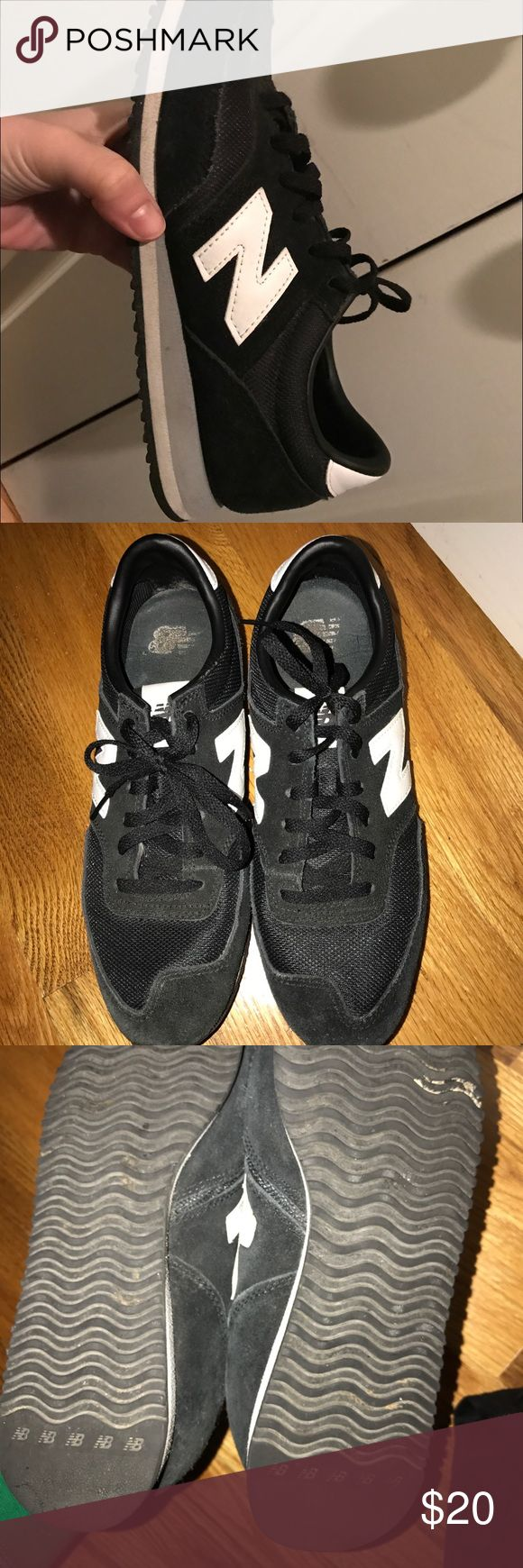New balance shoes Used black New Balance shoes. Size 9.5 New Balance Shoes Sneakers