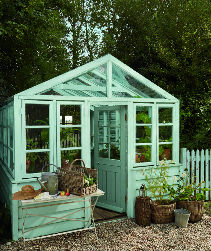 Laura Ashley Blue Painted Garden Shed 860x1024 The New Spring Summer Range from Laura Ashley