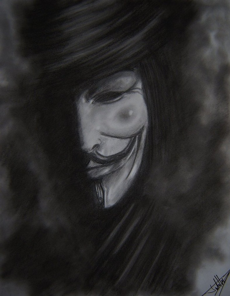 V for Vendetta* eerie and beautiful sketch ~