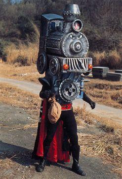 "Locomotive Mask (機関車仮面) from ""Himitsu Sentai Goranger"" 1976"