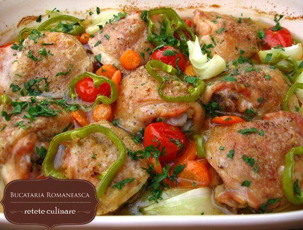 Pulpe cu legume la cuptor