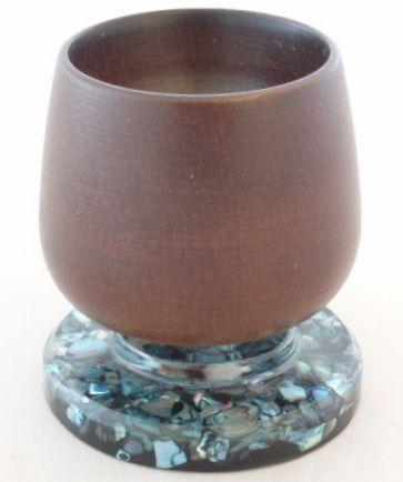 Paua shell egg cup www.vintagetreasure.co.nz