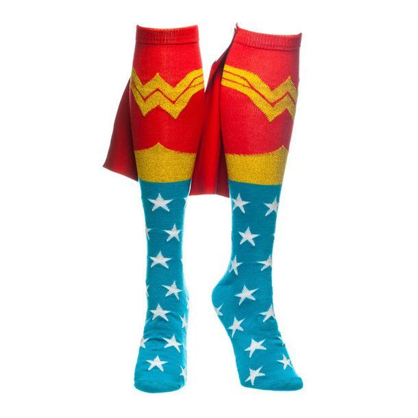 Yes! Wonder Woman socks with built in capes! Want!!!