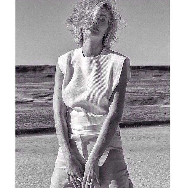 BASSIKE - Lara Bingle in Bassike for Elle Australia. Crop top now I'm store.