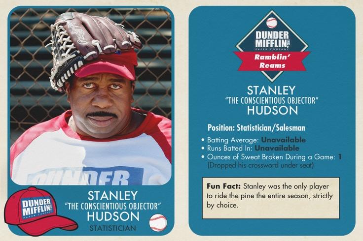 The Office Baseball Cards - Leslie David Baker - Stanley Hudson