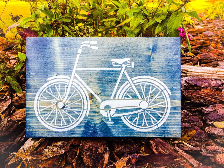 Vintage Bicycle Art by RoseFarmWoodShop on Etsy