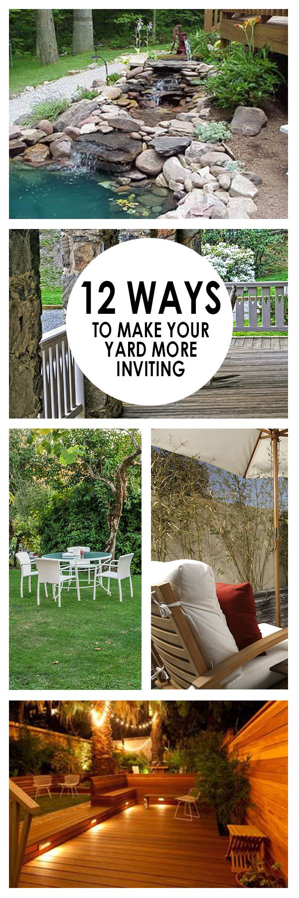 12 Ways to Make Your Yard More Inviting