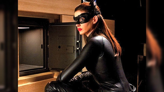 Anne Hathaway. Her Selina Kyle/Catwoman in The Dark Knight Rises is a return to form after Michelle Pfeiffer's scene-chewing performance redefined the character in 1992. Complete with skin-tight, Emma Peel-style catsuit and high-tech goggles that flip up to look like cat ears, Hathaway's clearly got sex appeal,  but given her largely vanilla roles, it remains to be seen if she deserves to move to the top of the charts as the best Catwoman yet.