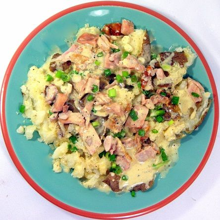 Inspired By eRecipeCards: Smashed Baked Potatoes with Chicken and Mustard Vinaigrette | Easy Potato Dish for camping and More!