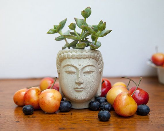 Clever and quirky :) Small Buddha Head Planter - Buddha Head Planter #1