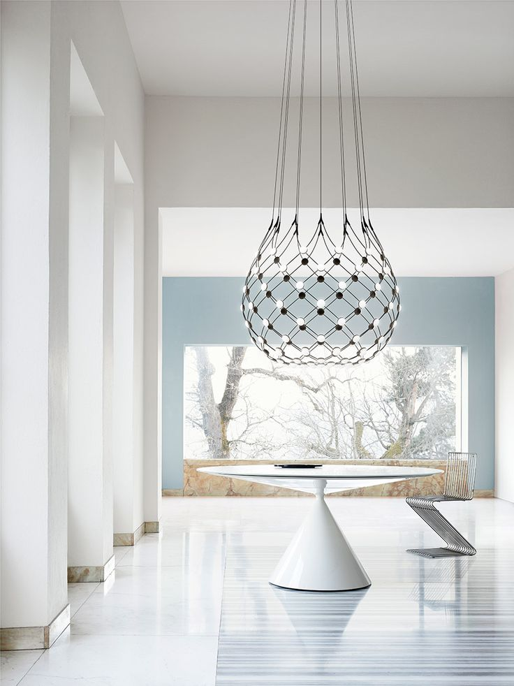 Designers Daniel Rybakken and Francisco Gomez Paz have both unveiled their latest chandelier designs for Italian lighting brand Luceplan