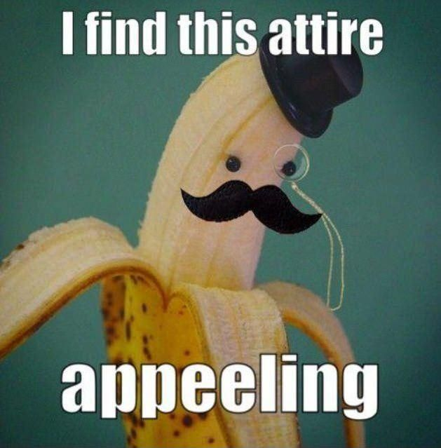 bahahaha: Laughing, Books Jackets, Bananas, Giggles, Funny Stuff, Humor, Things, Food Puns, Mustache