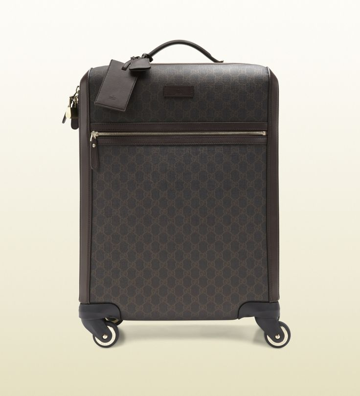 GG supreme canvas carry-on suitcase