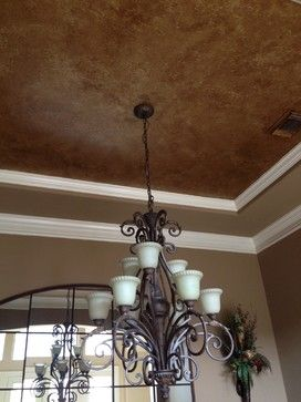 metallic ceiling paint | Metallic Ceiling - traditional - dining room - houston - by Brush and ...
