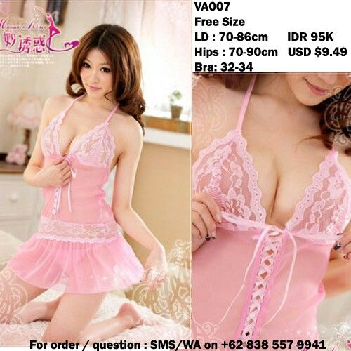 Very georgeous pink lacey with g-string lingerie