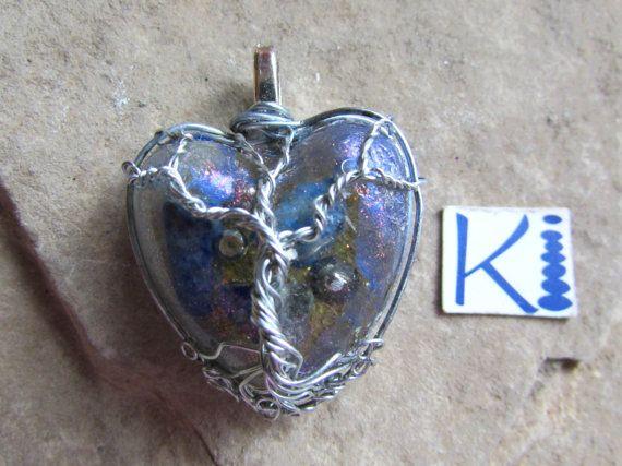 Orgone Tree of Life Heart Pendant Sodalite by KiCrystalCreations
