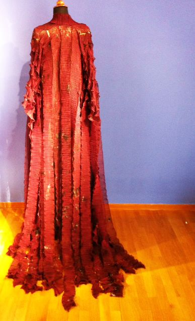 Sneak preview of Ekavis costume, designed by Daphne Valente for Greek Tragedy