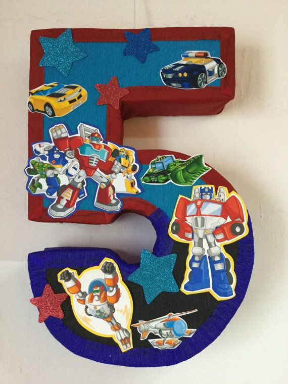Rescue bots pinata number 5 rescue bots party theme