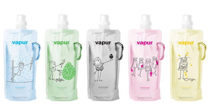 Vapur's Anti-Bottle.  Good for rigid bottle replacement IMPDO