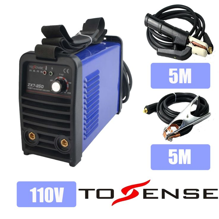 110V Single Voltage New ARC Welding Machine MMA ZX7-250 DC inverter 250A Welder 50/60HZ Longer Ground Clamp & Holder 5M #Affiliate