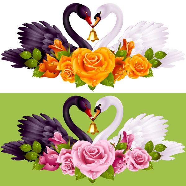 Gratis Eps Fil Svart Vita Svanar Med Rosa Bakgrund Vektor 02 Ladda Ner Namn Svart Vita Svanar Med Rosa Bakgrund Vekt Vector Flowers Rose Background White Swan