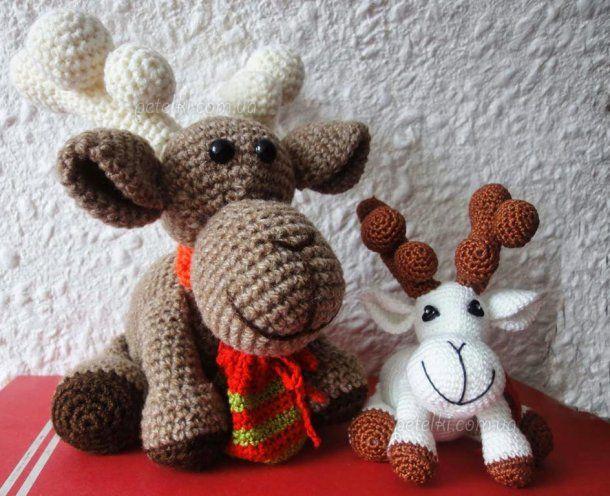 Вязаный рождественский олень