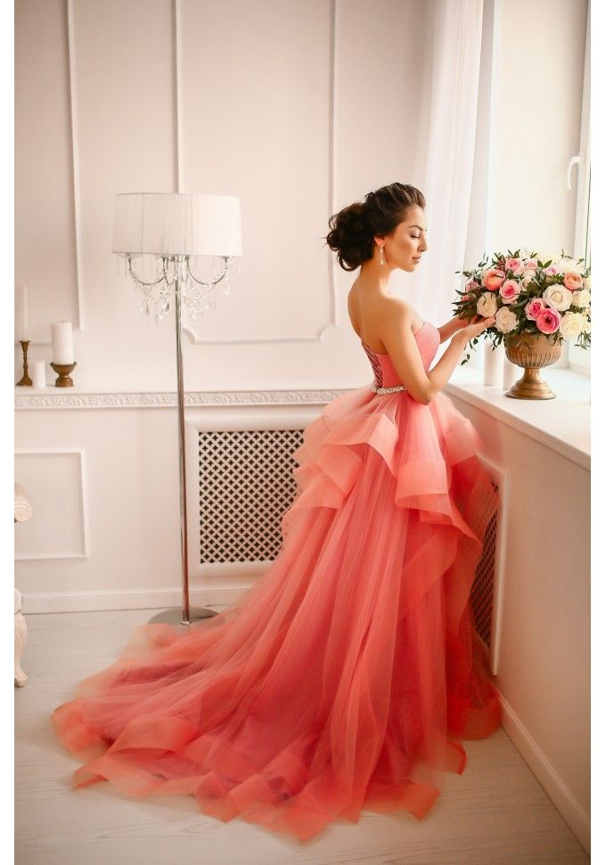 coloured gown