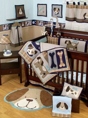 maybe not quite SO MANY dog prints, but as an accent this could be a cute idea for a baby boys room
