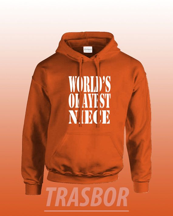 World's Okayest Niece Hoodie Unisex by Trasbor on Etsy