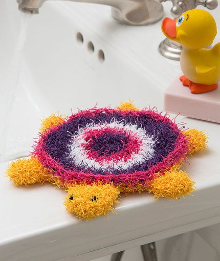 Turtle Bath Scrubby Free Crochet Pattern in Red Heart Yarns