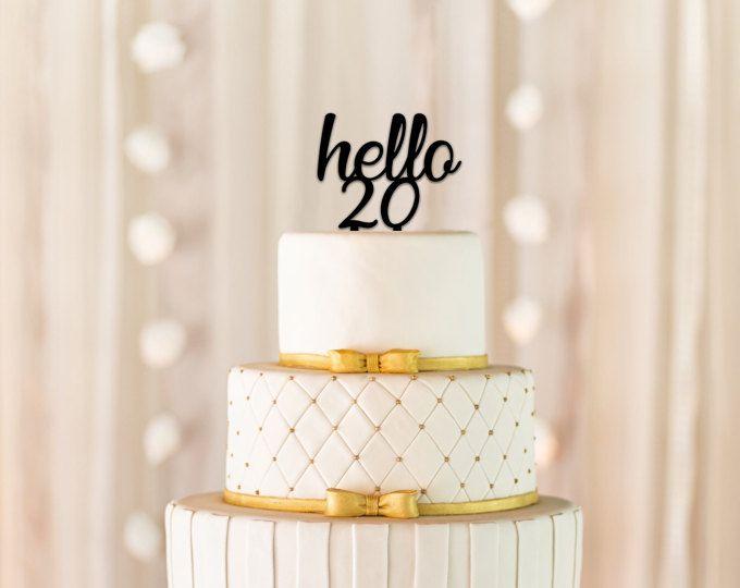 Hello 20 Cake Topper 20th Birthday Milestone Happy Party Decorations