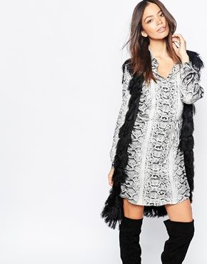 Goldie Love Generation Longline Gilet In All Over Fringing